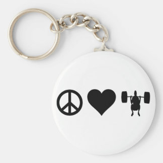Peace Love Weightlifting Keychain