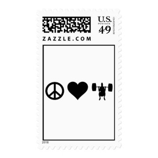 Peace Love Weightlifting Postage