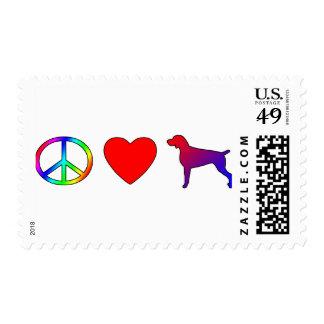 Peace Love Weimaraners Postage