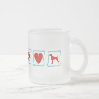 Peace Love Weimaraners Squares Coffee Mug