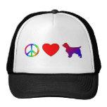 Peace Love Welsh Springer Spaniels Trucker Hat