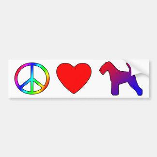 Peace Love Welsh Terriers Bumper Sticker