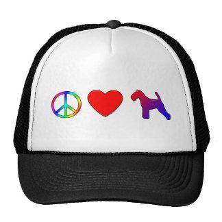 Peace Love Welsh Terriers Trucker Hat