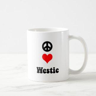 Peace love Westie Coffee Mug