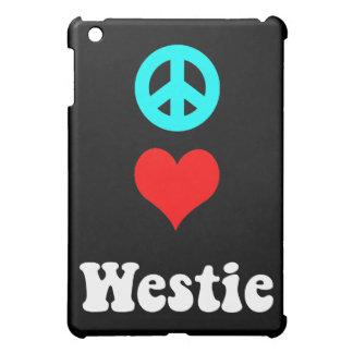 peace love westie iPad mini case