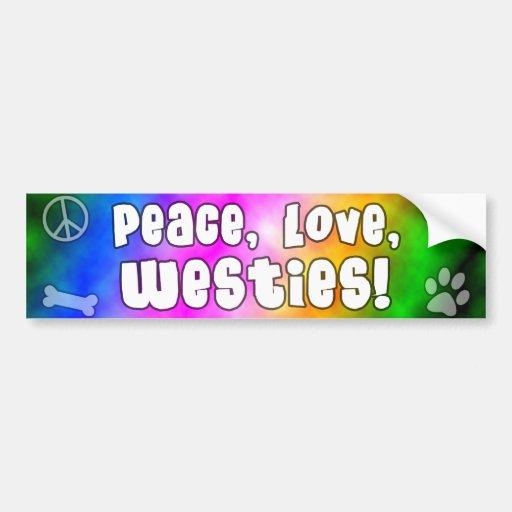 Peace Love Westies Bumper Sticker