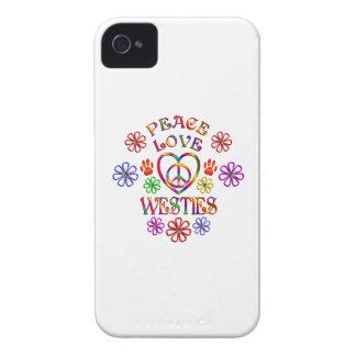 Peace Love Westies Case-Mate iPhone 4 Case