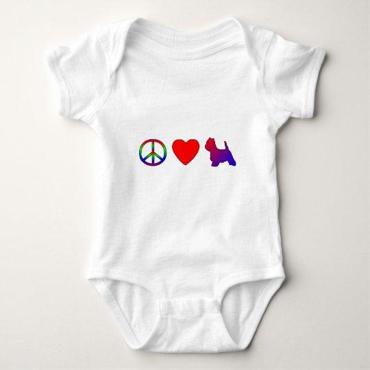 Peace Love Westies Child's TShirt