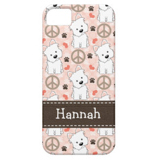Peace Love Westies iPhone SE/5/5s Case