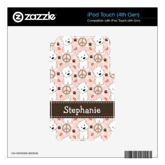 Peace Love Westies iPod Touch Skin 4g 4th Gen
