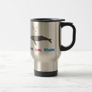 Peace, Love, Whales Coffee Cup Mugs