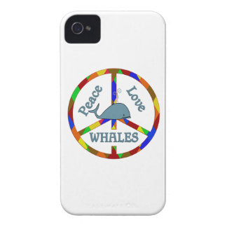 Peace Love Whales iPhone 4 Case