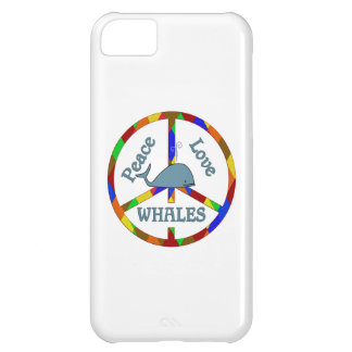 Peace Love Whales iPhone 5C Covers
