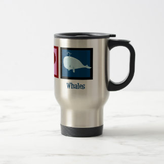 Peace Love Whales Coffee Mugs