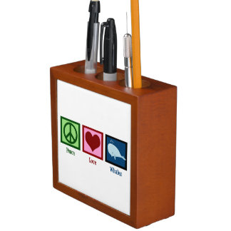 Peace Love Whales Pencil Holder