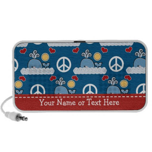 Peace Love Whales Portable Doodle Speakers Persona