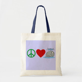 Peace Love Whales T shirts, Travel Mugs, Gifts Canvas Bag