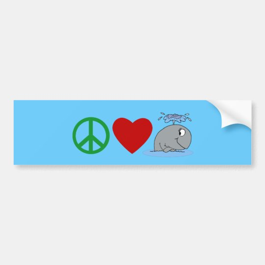 Peace Love Whales T shirts, Travel Mugs, Gifts Bumper Sticker