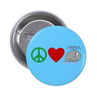Peace Love Whales T shirts, Travel Mugs, Gifts 2 Inch Round Button