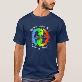 Peace, Love, & Wiener Dogs Dark T-Shirt