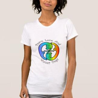 Peace, Love, & Wiener Dogs Ladies' T-Shirt