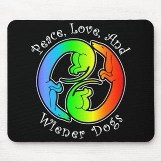 Peace Love Wiener Dogs Mousepad