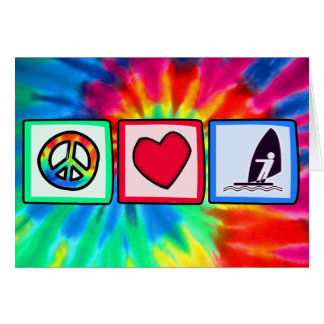 Peace, Love, Windsurfing Card