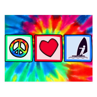 Peace, Love, Windsurfing Postcard