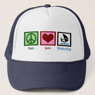 Peace Love Windsurfing Trucker Hat