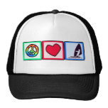 Peace, Love, Windsurfing Trucker Hats