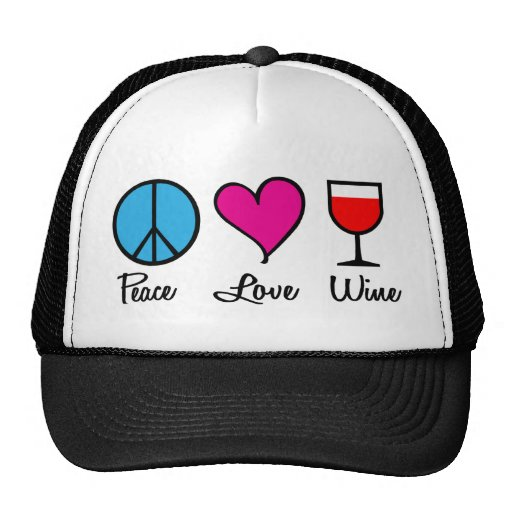 Peace Love Wine1 Hats