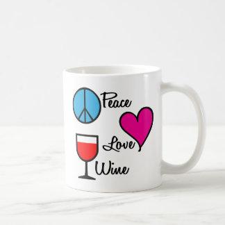 Peace Love Wine4 Coffee Mug