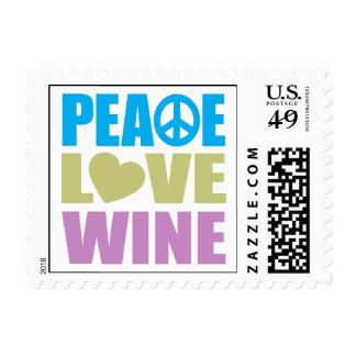 Peace Love Wine Postage