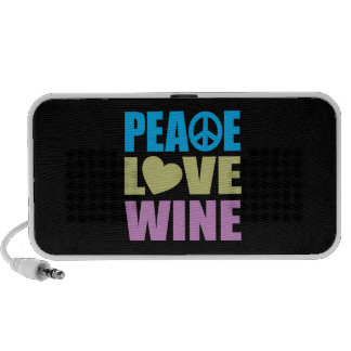 Peace Love Wine Mini Speakers