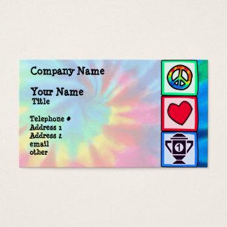Peace, Love, Winning Business Card