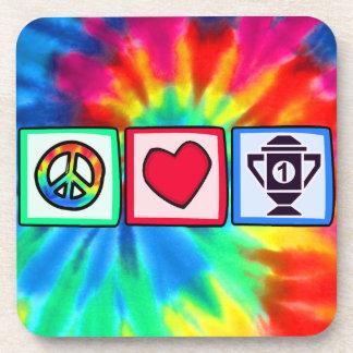 Peace, Love, Winning Drink Coaster