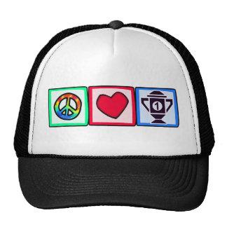 Peace, Love, Winning Trucker Hat
