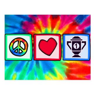 Peace, Love, Winning Postcard