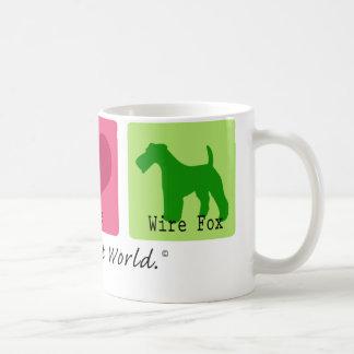 Peace Love Wire Fox Coffee Mugs