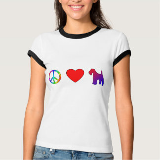 Peace Love Wire Fox Terriers T-Shirt