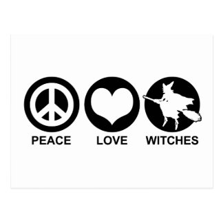 Peace Love Witches Postcard