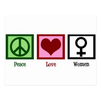 Peace Love Women Postcard