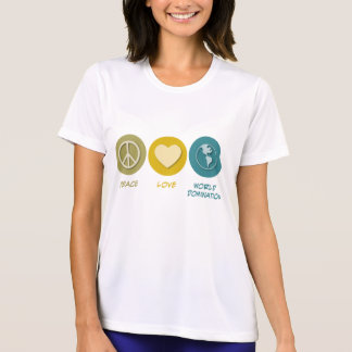 Peace Love World Domination Tee Shirts
