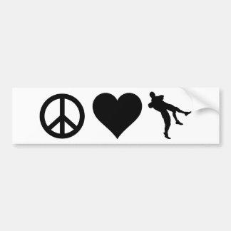 Peace Love Wrestling Bumper Sticker