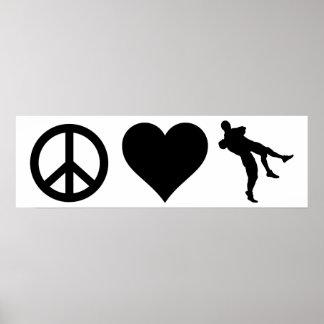 Peace Love Wrestling Poster