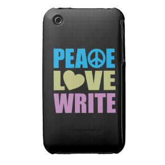 Peace Love Write Case-Mate iPhone 3 Case