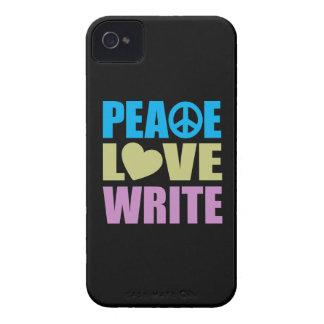 Peace Love Write iPhone 4 Case
