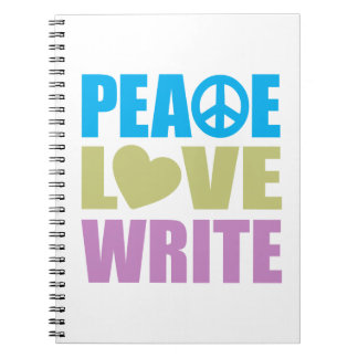 Peace Love Write Spiral Notebooks