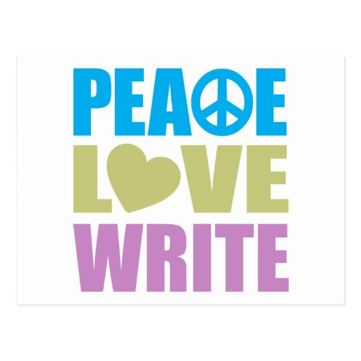 Peace Love Write Post Cards