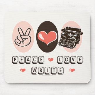 Peace Love Write Typewriter Mousepad